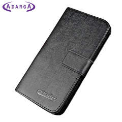 Adarga Lederstil Samsung Galaxy Trend Plus Wallet Hülle in Schwarz