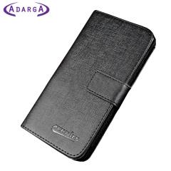 Adarga Leather-Style Samsung Galaxy Trend Plus Wallet Case - Black