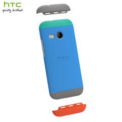 Original HTC One Mini 2 Double Dip Hard Hülle in Blau und Grün