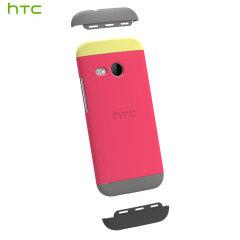 Original HTC One Mini 2 Double Dip Hard Hülle in Pink und Grau