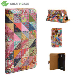 Create and Case HTC One M8 Book Stand Case - Grandma Quilt