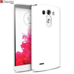 Provide your LG G3 with ultra-thin, tough snap-on protection with this Ringke Slim white polycarbonate case.
