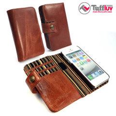 Tuff Luv Vintage Leather Wallet Case mit RFID in Braun