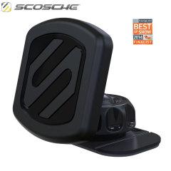 Obtenez l'angle de vue idéal pour votre appareil dans la voiture ou au bureau et montez votre smartphone rapidement et en toute sécurité avec le système Scosche.