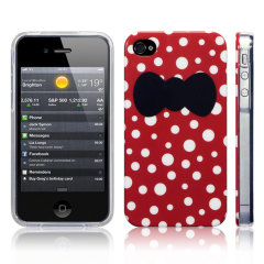 Call Candy Hard back case voor iPhone 4S / 4 - Red Bow Belles