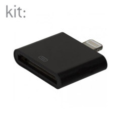 Kit: Lightning to 30-pin Adapter for Apple Devices - Black