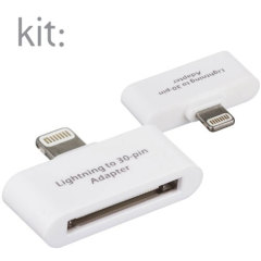 Use your Lightning based iPhone 6 / 6 Plus / 5S / 5 or your iPad with existing cradles and chargers with this Kit: adapter in white.