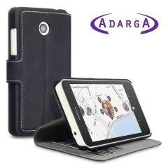 Adarga Lumia 630 / 635 Ledertasche in Schwarz