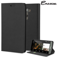 Custodia a portafogli Encase per LG G3 - Nero