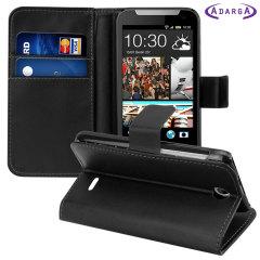 Adarga Leather-Style HTC Desire 310 Wallet Case - Black
