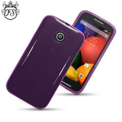 Featuring fantastic lightweight and slimline protection, this purple Flexishield gel case is your Motorola Moto E's flexible friend.