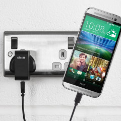 Charge your HTC One M8 quickly and conveniently with this compatible 2.4A high power charging kit. Featuring mains adapter and USB cable.