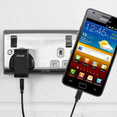 Charge your Samsung Galaxy S2 quickly and conveniently with this compatible 2.4A high power charging kit. Featuring mains adapter and USB cable.