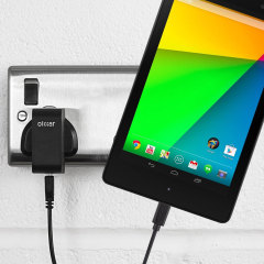 Charge your Google Nexus 7 2012 quickly and conveniently with this compatible 2.5A high power charging kit. Featuring mains adapter and USB cable.
