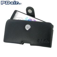 PDair Horizontaal Leren Pouch Case voor LG G3 - Zwart