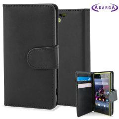 Adarga Multifunctional Xperia Z1 Compact Tasche Wallet Stand Schwarz