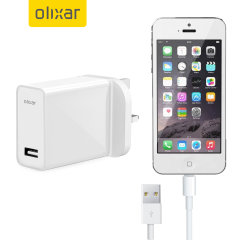 Charge your Apple iPhone 5 quickly and conveniently with this compatible 2.1A high power charging kit. Featuring mains adapter with Lightning connection cable. It's also fully compatible with iOS 7, so no annoying warnings.