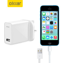 Charge your Apple iPhone 5C quickly and conveniently with this compatible 2.4A high power charging kit. Featuring mains adapter with Lightning connection cable. It's also fully compatible with iOS 7, so no annoying warnings.