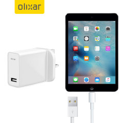 Charge your Apple iPad Mini 2 quickly and conveniently with this compatible 2.4A high power charging kit. Featuring mains adapter with Lightning connection cable. It's also fully compatible with iOS 7 and later, so no annoying warnings.