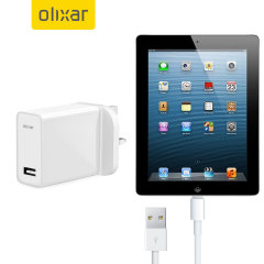 Charge your Apple iPad 4 quickly and conveniently with this compatible 2.4A high power charging kit. Featuring mains adapter with Lightning connection cable. It's also fully compatible with iOS 7, so no annoying warnings.