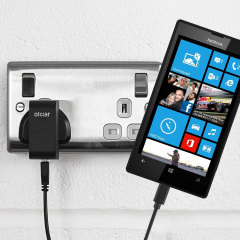 Charge your Nokia Lumia 520 quickly and conveniently with this compatible 2.4A high power charging kit. Featuring mains adapter and USB cable.