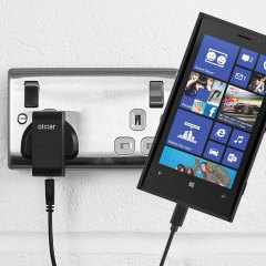 Charge your Nokia Lumia 920 quickly and conveniently with this compatible 2.4A high power charging kit. Featuring mains adapter and USB cable.