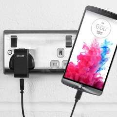Charge your LG G3 quickly and conveniently with this compatible 2.4A high power charging kit. Featuring mains adapter and USB cable.