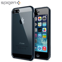 Proteggi il tuo iPhone 5S / 5 Plus con questo bumper Spigen SGP con cuscinetti d'aria agli angoli. Colore metal slate.