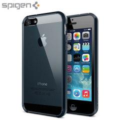 Beskytt din iPhone 5S / 5 med den unike bumpern i metal slate med luftvatterte hjørne fra Spigen.