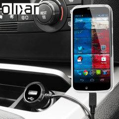 Mantieni carico il tuo Motorola Moto X grazie a questo caricabatterie da auto High Power da 2.4A, caratterizzato da un cavo a spirale estendibile. Grazie alla porta USB integrata, potrai caricare contemporaneamente anche un altro dispositivo USB.