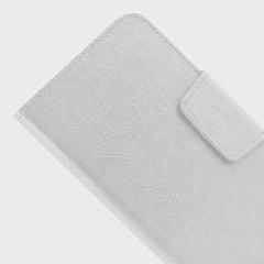 Housse universelle pour téléphone 5.5''style cuir  – Blanche