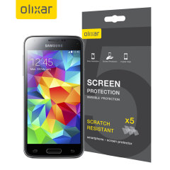 Keep your Samsung Galaxy S5 Mini screen in pristine condition with this 5 pack of Olixar scratch-resistant screen protectors.