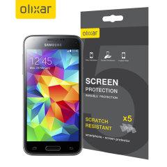 Utrzymaj ekran swojego Samsunga Galaxy S5 Mini w idealnym stanie wraz z opakowaniem 5szt. folii ochronnych MFX odpornych na zarysowania ekranu.