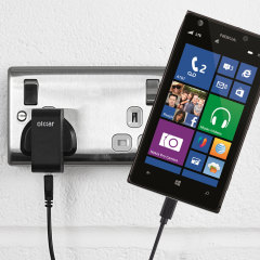 Charge your Nokia Lumia 925 quickly and conveniently with this 2.4A high power charging kit. Featuring mains adapter and USB cable.
