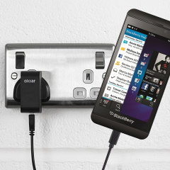 Charge your Blackberry Z10 quickly and conveniently with this compatible 2.4A high power charging kit. Featuring mains adapter and USB cable.