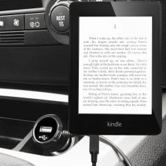 Keep your Amazon Kindle Paperwhite fully charged on the road with this high power 2.4A Car Charger, featuring extendable spiral cord design. As an added bonus, you can charge an additional USB device from the built-in USB port!