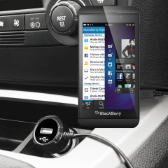 Keep your Blackberry Z10 fully charged on the road with this high power 2.4A Car Charger, featuring extendable spiral cord design. As an added bonus, you can charge an additional USB device from the built-in USB port!