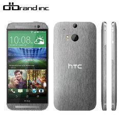 Lamina protectora trasera HTC One M8 dbrand- Titanio