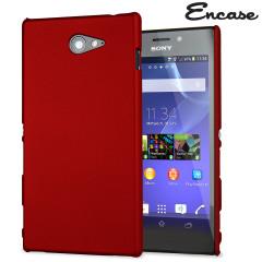 ToughGuard Sony Xperia M2 Rubberised Case - Red