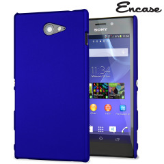 ToughGuard Sony Xperia M2 Rubberised Case - Blue