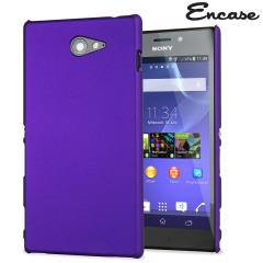 ToughGuard Sony Xperia M2 Rubberised Case - Purple