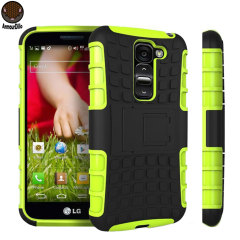 Protect your LG G2 Mini from bumps and scrapes with this green ArmourDillo case. Comprised of an inner TPU case and an outer impact-resistant exoskeleton, the ArmourDillo not only offers sturdy and robust protection, but also a sleek modern styling.