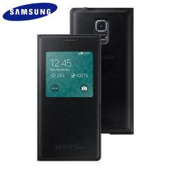 Official Samsung Galaxy S5 Mini S-View Premium Cover - Metallic Black
