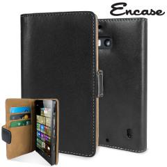 Encase Nokia Lumia 930 Tasche Wallet Case in Schwarz
