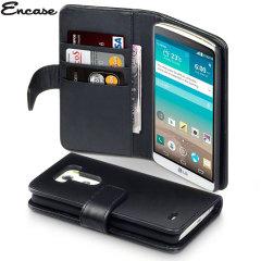 Custodia a Portafogli in pelle Encase per LG G3 - Nero
