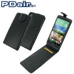Pdair Leather HTC Desire 816 Top Flip Case - Black