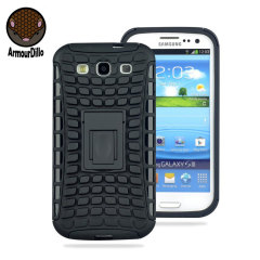 Armourdillo Hybrid Protective Case voor Samsung Galaxy S3 - Zwart