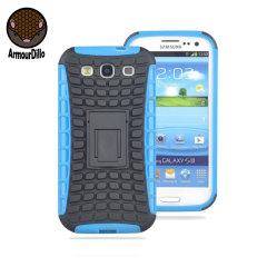Armourdillo Hybrid Protective Case voor Samsung Galaxy S3 - Blauw
