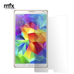 Keep your Galaxy Tab S 8.4's screen in pristine condition with an MFX scratch-resistant screen protector.