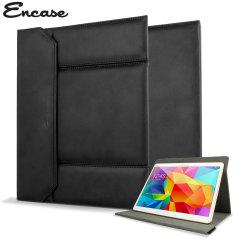 Encase Universal 9-10 Zoll Tablet Stand Tasche im Lederstil in Schwarz